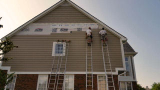 Cement board siding install New Baltimore